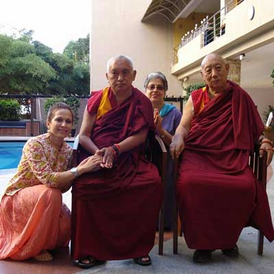 Avril Q with Another Guru - Lama Zopa Rinpoche (Who was instrumental in bringing Buddhism to the West)