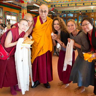 Avril Q with one of her Gurus - HH the 14th Dalai Lama